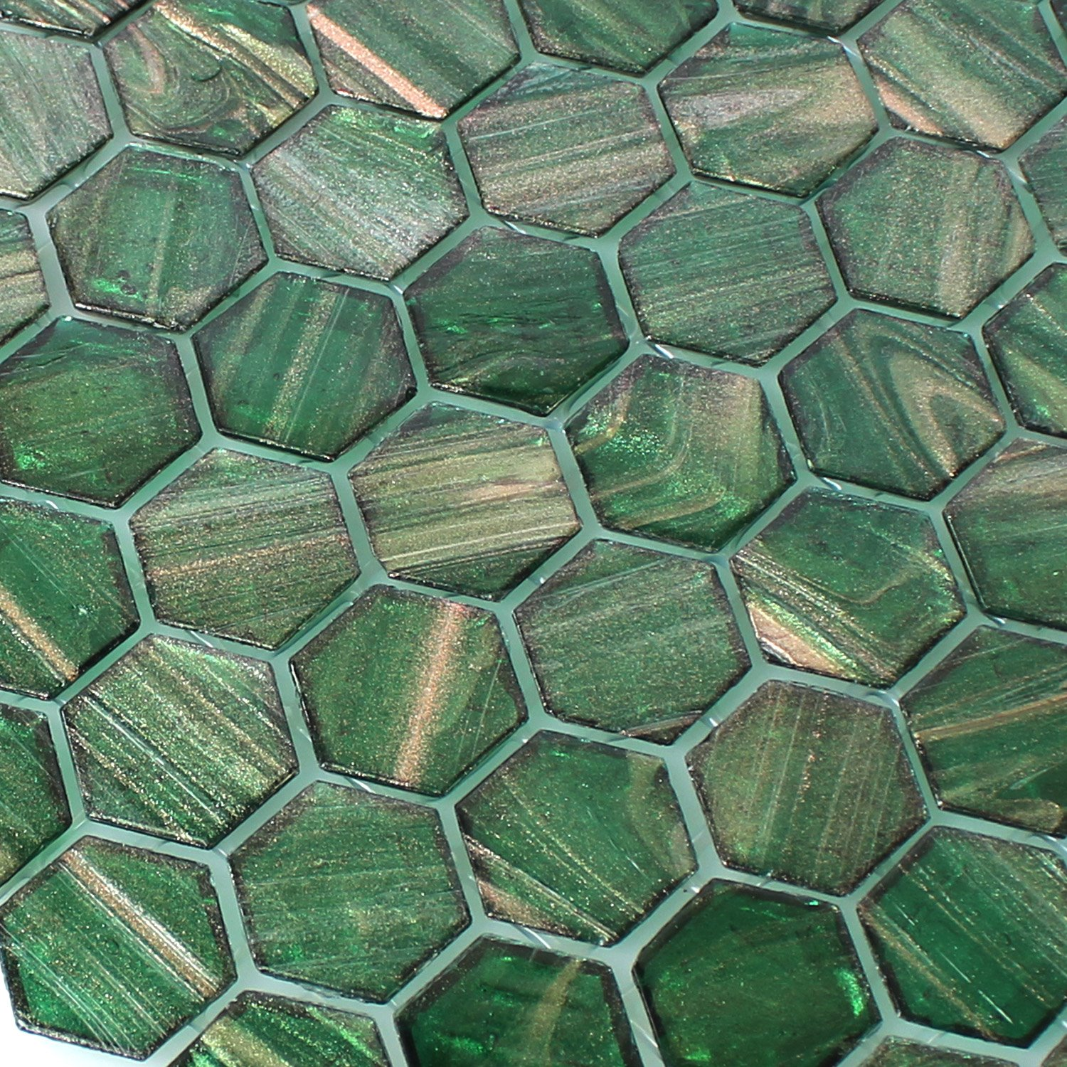 Glass Mosaic Tiles Hexagonal Trend-Vi