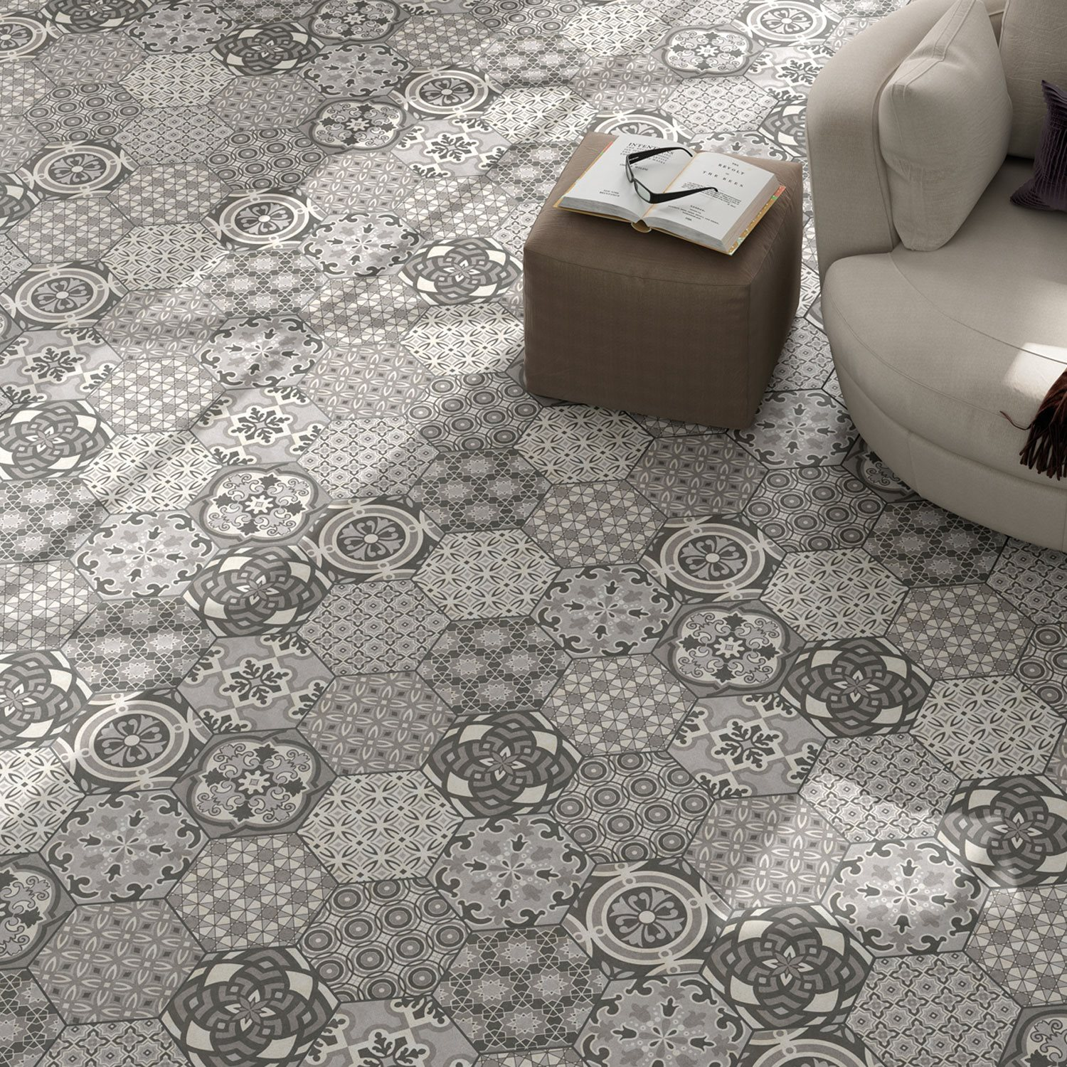 Cement Tiles Optic Hexagon Floor Alicante LZ69447